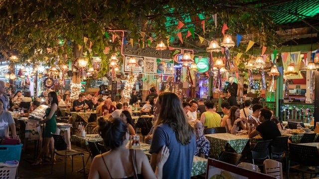 lively restaurant
